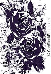 rosa, astratto, artistico, fondo