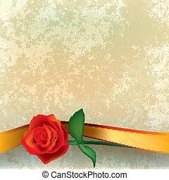 rosa, astratto, grunge, nastro, illustrazione