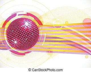 rosa, astratto, palla, fondo, discoteca
