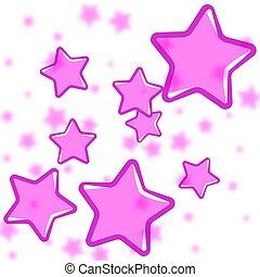 rosa, astratto, sfondo bianco, stelle