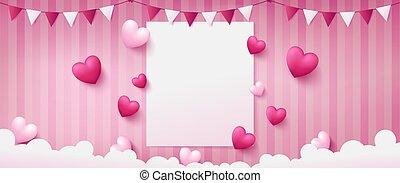 rosa, bandiera, fondo, dolce