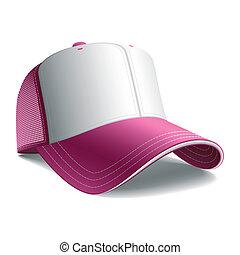 rosa, berretto, baseball