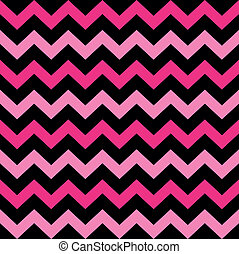 rosa, carino, ), (, seamless, nero, chevron, modello