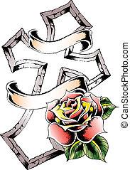 rosa, croce