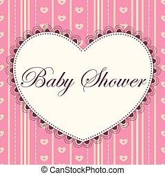 rosa, cuore, acquazzone bambino, vendemmia