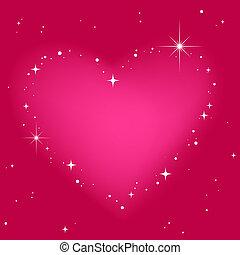 rosa, cuore, cielo, stella