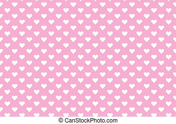 rosa, cuori, sfondo bianco