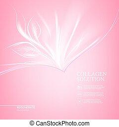 rosa, design., cura, fondo, scin
