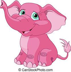 rosa, elefante
