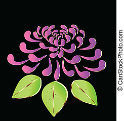 rosa, fiore loto, logotipo