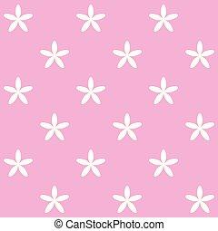 rosa, fiori bianchi, fondo