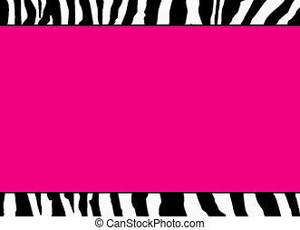 rosa, fluorescente, zebra, sagoma