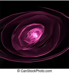 rosa, fondo., astratto, vettore
