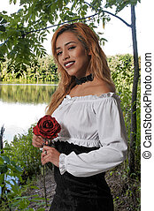 rosa, holding donna