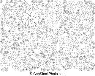 rosa, illustration., colorare, luce, astratto, fondo., sakura, fiori