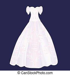 rosa, lanuginoso, vestire, matrimonio