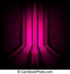 rosa, luce, astratto, linee, fondo