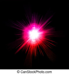 rosa, luce, vettore, effect., bagliore
