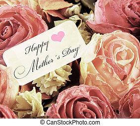 rosa, madri, testo, rose, giorno, scheda