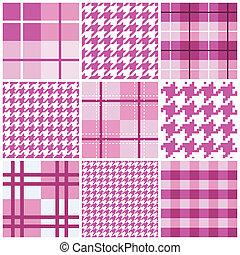 rosa, modello, seamless, collezione