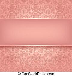 rosa, ornamentale, tessuto, 10, eps, vettore, fondo, texture.