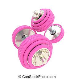 rosa, paio, strength:, dumbbells, donne