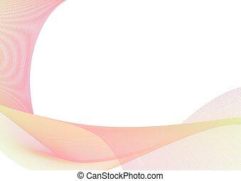 rosa, pastello, strato, astratto, curva, sfondo verde, linea