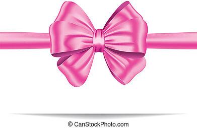 rosa, regalo, nastro, arco