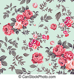 rosa, seamless, modello