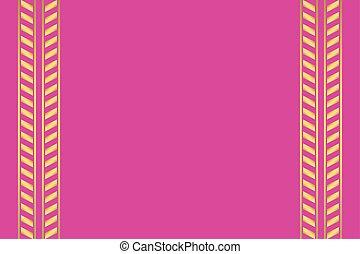 rosa, sfondo dorato, modello