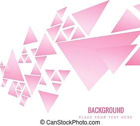 rosa, triangolo, immagine, moderno, vettore, fondo