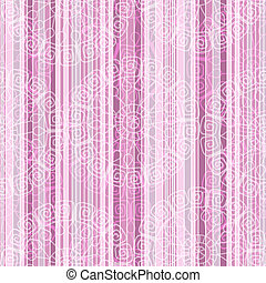 rosa, vendemmia, strisce, seamless, modello