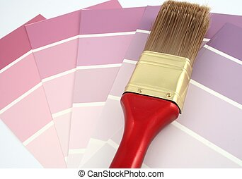 rosa, vernice, campioni