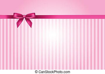 rosa, vettore, fondo, arco