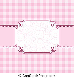 rosa, vettore, frame., illustration.