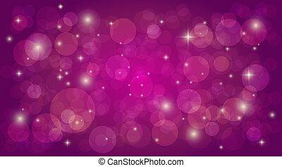 rosa, vettore, magia, astratto, bokeh, luce, fondo