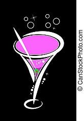 rosa, vettore, martini
