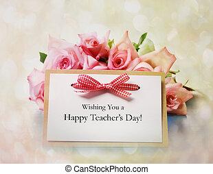 rose dentellare, messaggio, insegnanti, giorno