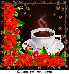 rose, tazza caffè