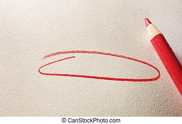 rosso, cerchio
