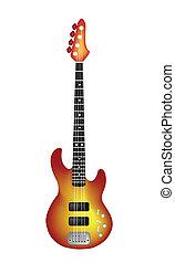 rosso, chitarra, elettrico, bello