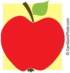 rosso giallo, fondo, mela