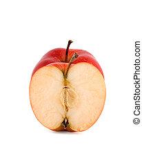 rosso, isolato, mela