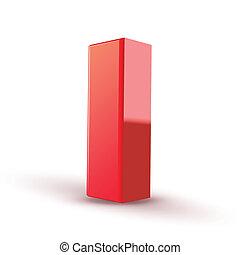 rosso, lettera, 3d