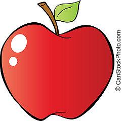 rosso, pendenza, mela