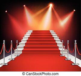 rosso, scale, moquette