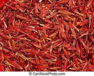 rosso, zafferano, spezia