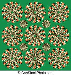 rotazione, perpetuo, illusione