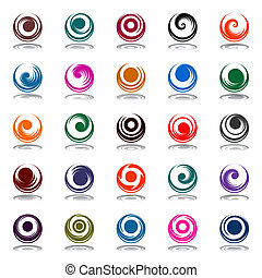 rotazione, spirale, movimento