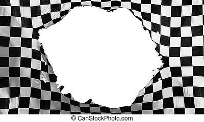 rotto, bandiera, checkered